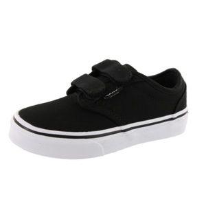 Vans Kids Black Atwood Skateboard Shoes, sz 10